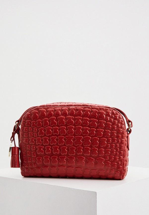 женская сумка tous, красная