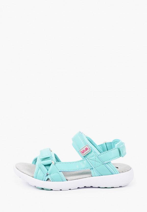 сандалии ulёt для девочки, бирюзовые