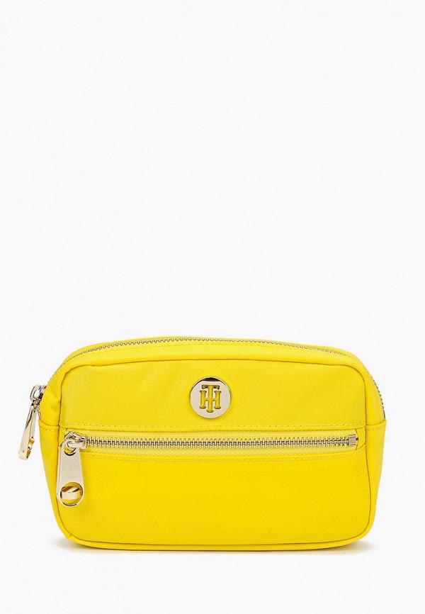 женская сумка tommy hilfiger, желтая