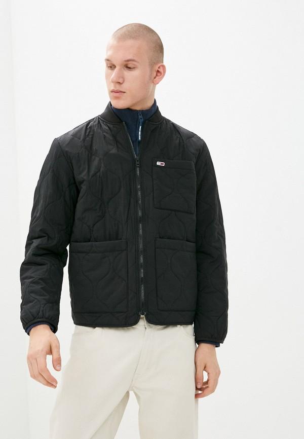 мужская куртка tommy jeans, черная