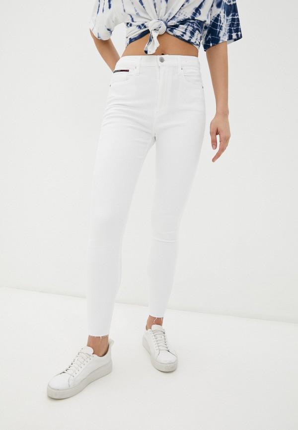 женские джинсы tommy jeans, белые