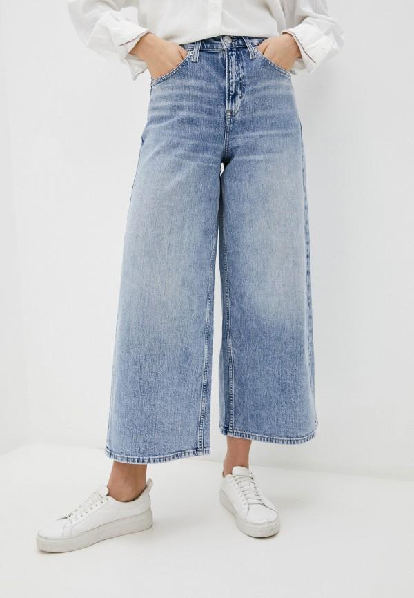 женские джинсы клеш tommy jeans, голубые