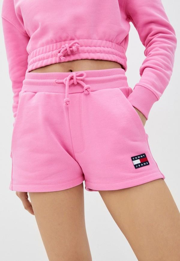 женские спортивные шорты tommy jeans, розовые