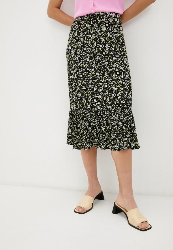 женская прямые юбка tommy jeans, черная