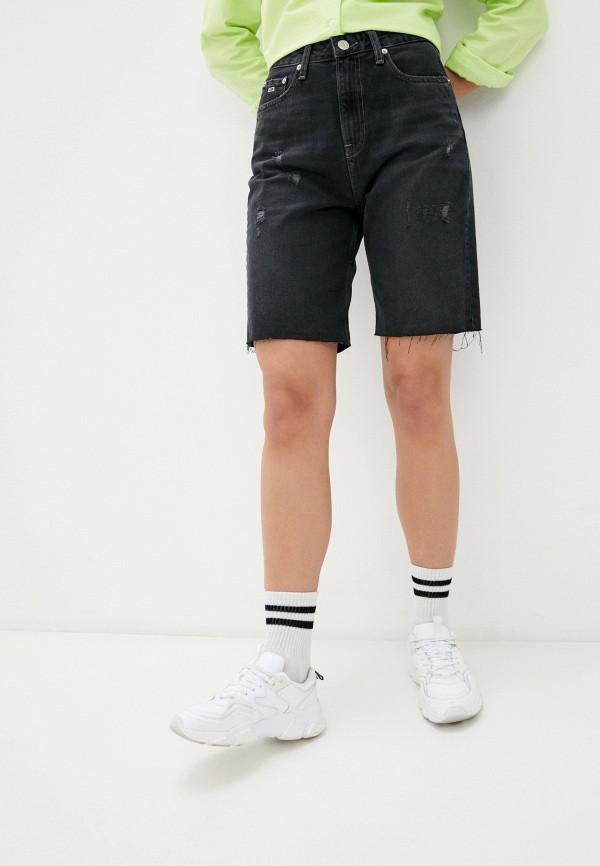 женские джинсовые шорты tommy jeans, черные