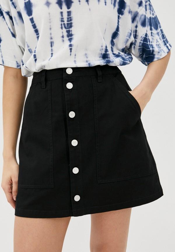 женская джинсовые юбка tommy jeans, черная