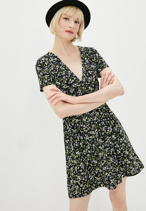 женское повседневные платье tommy jeans, черное