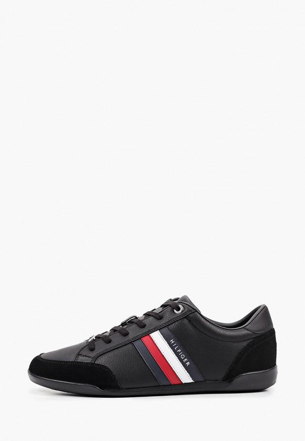 мужские низкие кроссовки tommy hilfiger, черные