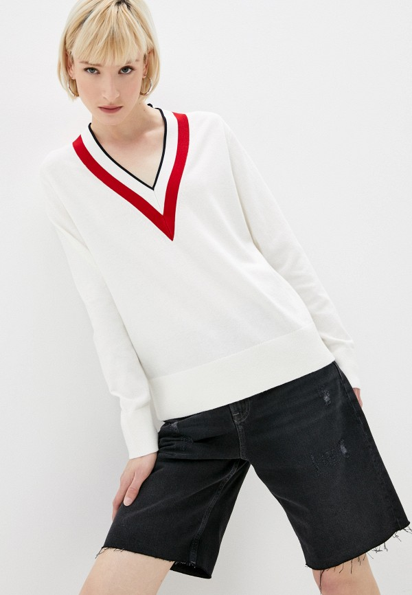 женский пуловер tommy hilfiger, белый