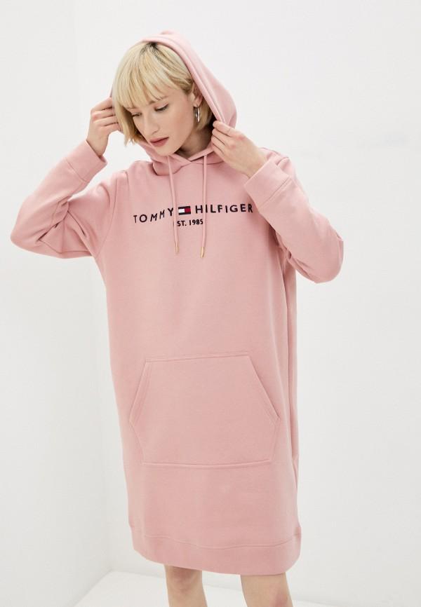 женское платье tommy hilfiger, розовое