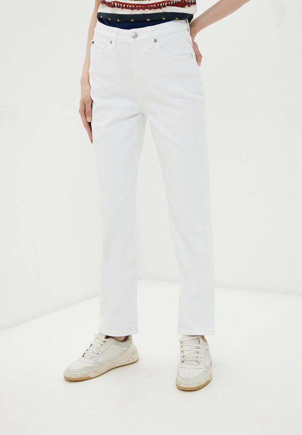 женские прямые джинсы tommy hilfiger, белые