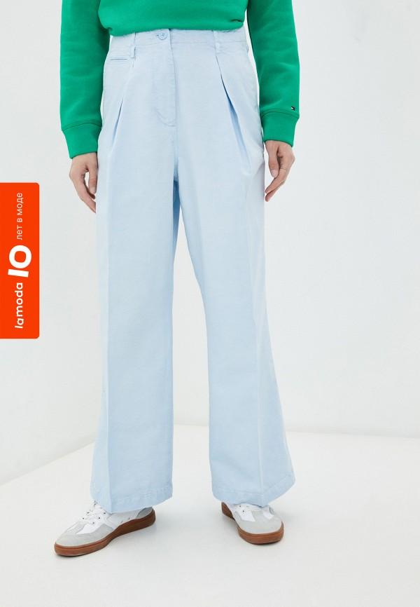женские повседневные брюки tommy hilfiger, голубые