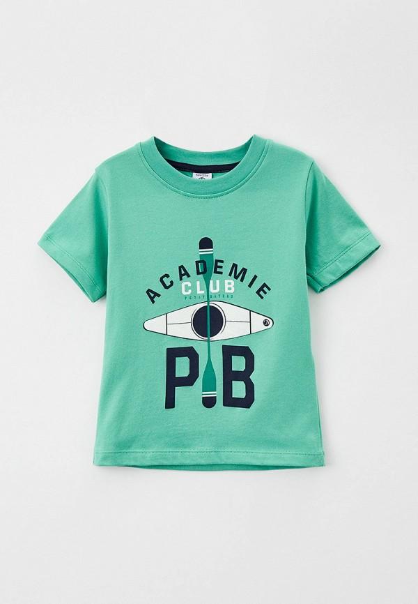 футболка с коротким рукавом petit bateau для мальчика, зеленая