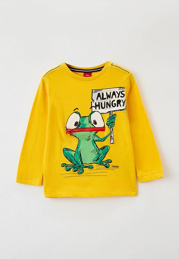 лонгслив s.oliver для мальчика, желтый