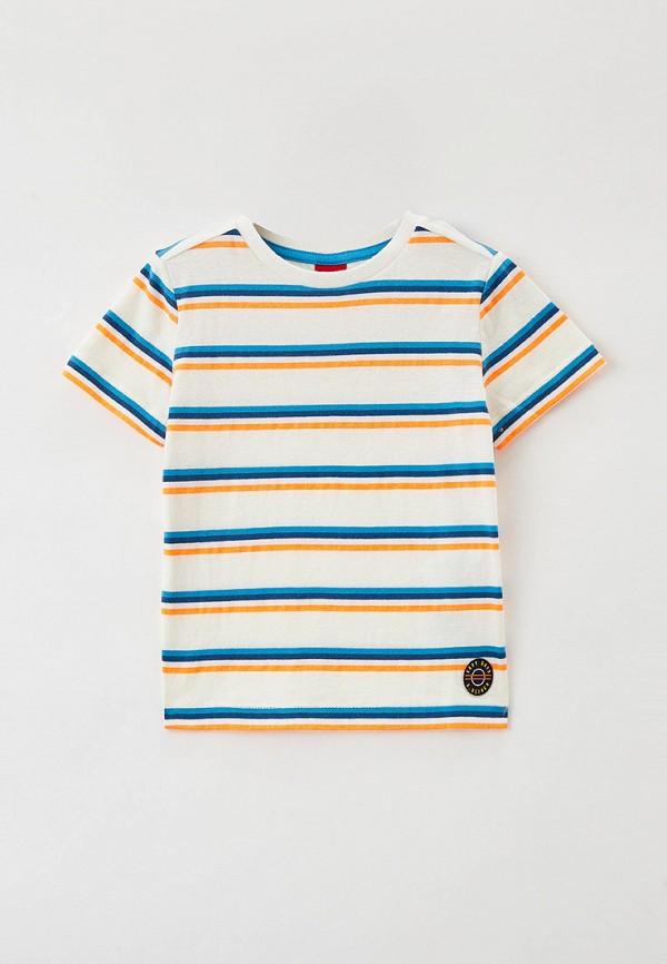 футболка с коротким рукавом s.oliver для мальчика, белая