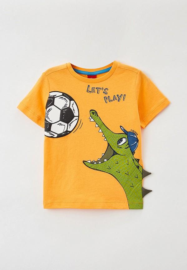 футболка с коротким рукавом s.oliver для мальчика, оранжевая