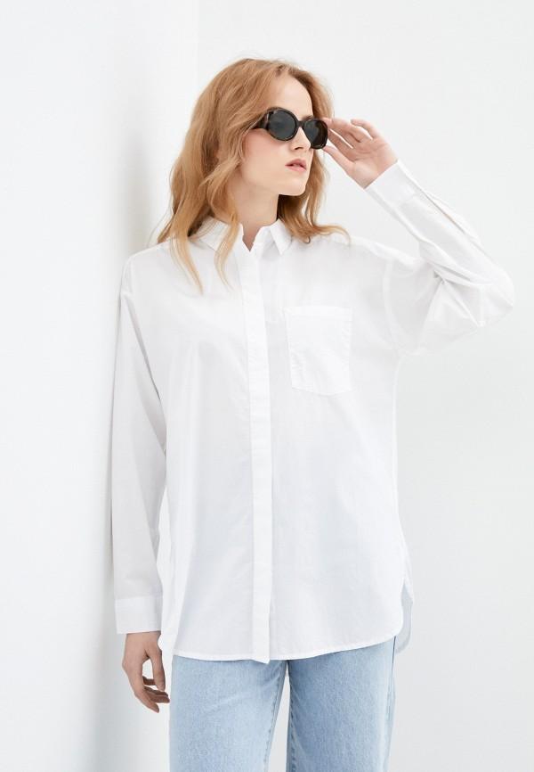 женская рубашка с длинным рукавом q/s designed by, белая