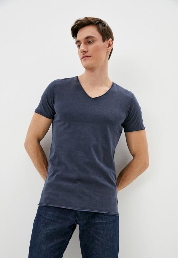 мужская футболка с коротким рукавом q/s designed by, синяя