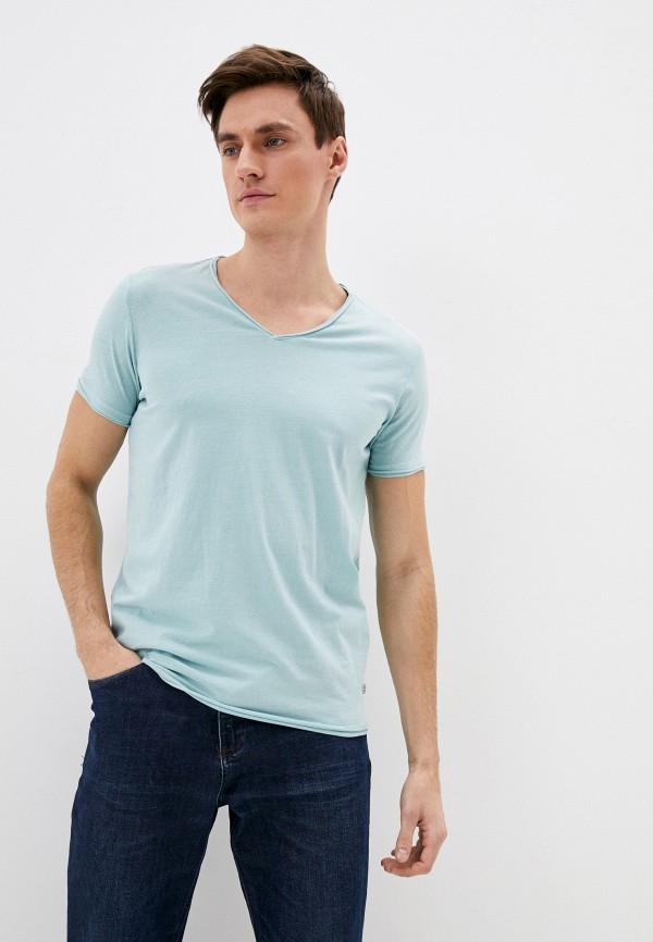 мужская футболка с коротким рукавом q/s designed by, голубая