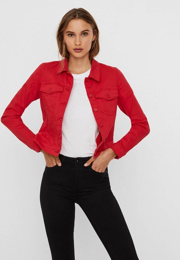 женская джинсовые куртка vero moda, красная