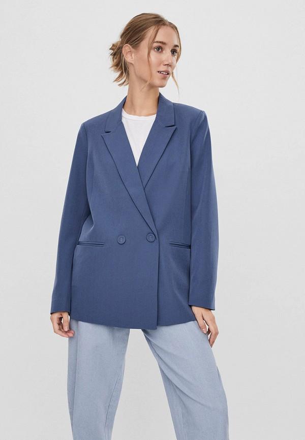 женский пиджак vero moda, синий