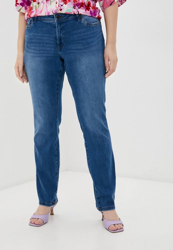 женские джинсы vero moda curve, голубые