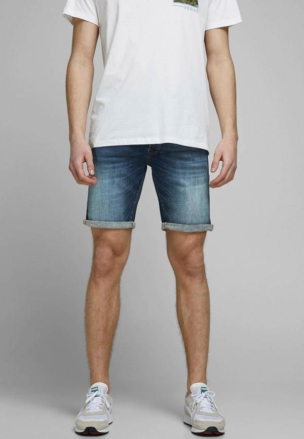 мужские джинсовые шорты jack & jones, синие