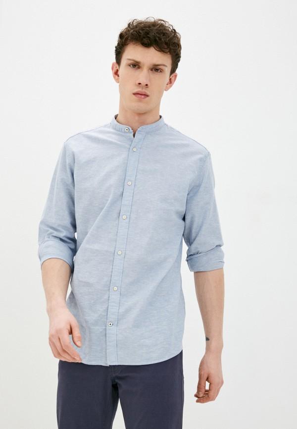 мужская рубашка с длинным рукавом produkt, голубая