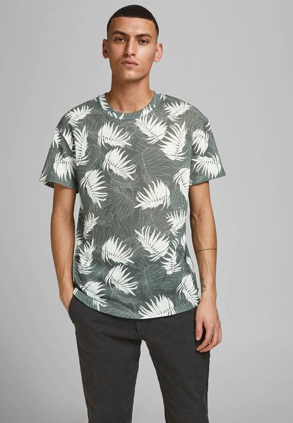 мужская футболка с коротким рукавом jack & jones, хаки