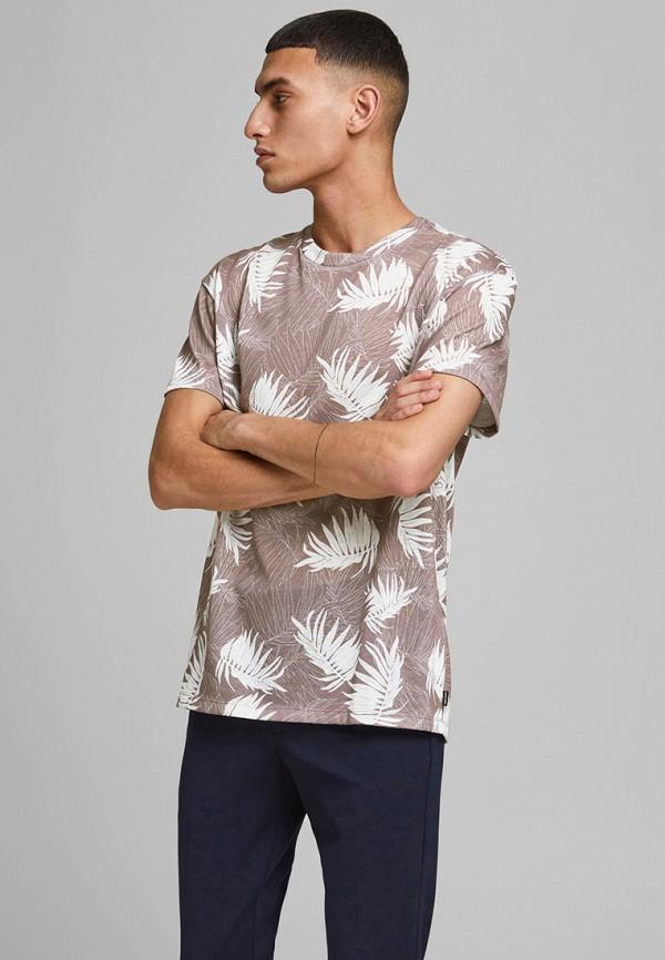 мужская футболка с коротким рукавом jack & jones, фиолетовая