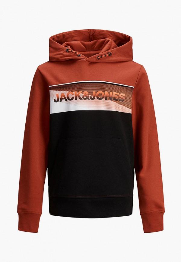 худи jack & jones для мальчика, бордовые