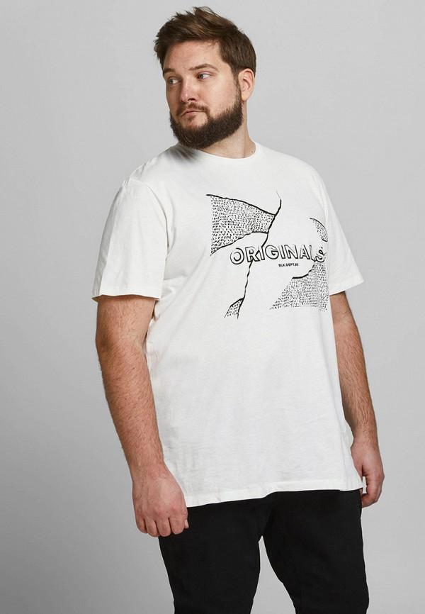 мужская футболка jack & jones, белая