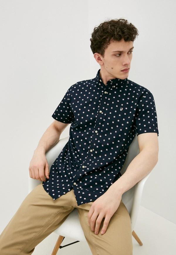 мужская рубашка с коротким рукавом produkt, синяя