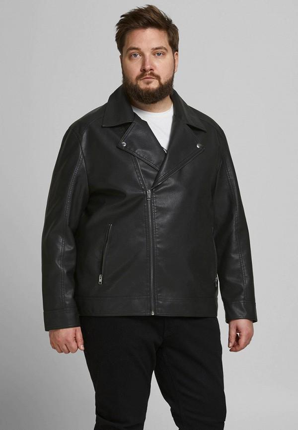 мужская кожаные куртка jack & jones
