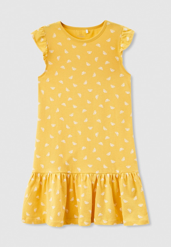 повседневные платье name it для девочки, желтое