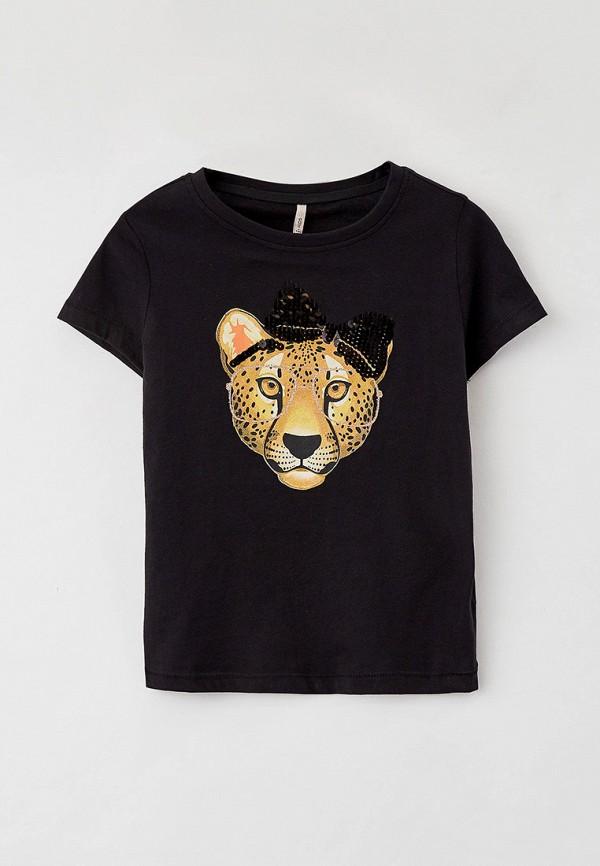 футболка с коротким рукавом kids only для девочки, черная