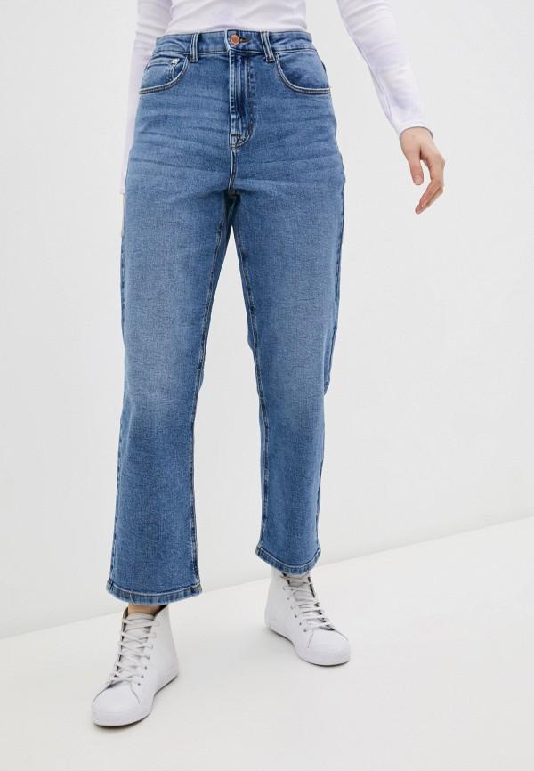 женские прямые джинсы only, синие