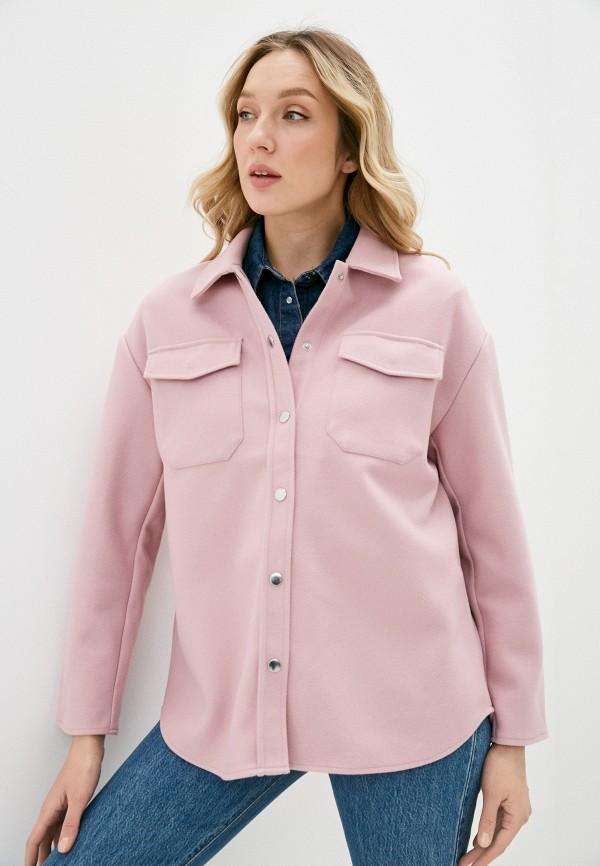 женское пальто only, розовое