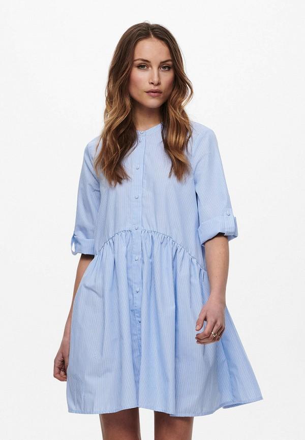 женское повседневные платье only, голубое