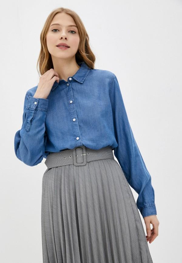 женская рубашка с длинным рукавом jacqueline de yong, синяя
