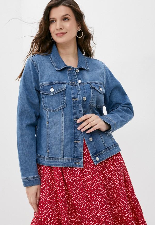 женская джинсовые куртка only carmakoma, голубая