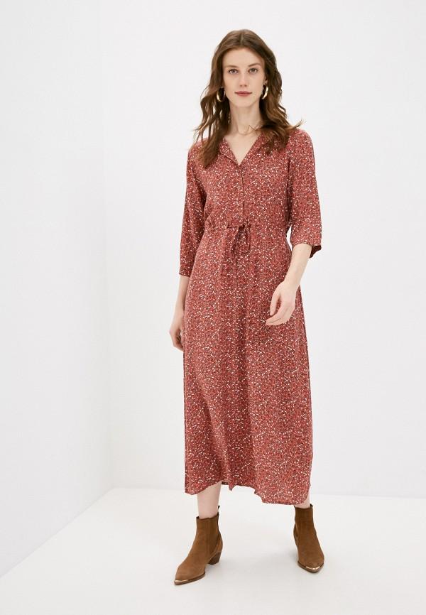 женское повседневные платье jacqueline de yong, коричневое