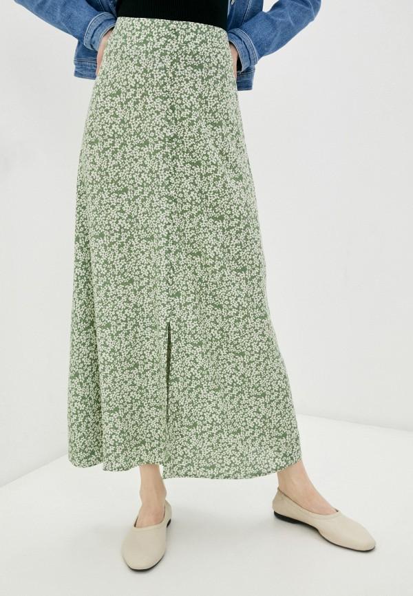 женская юбка-трапеции only, зеленая