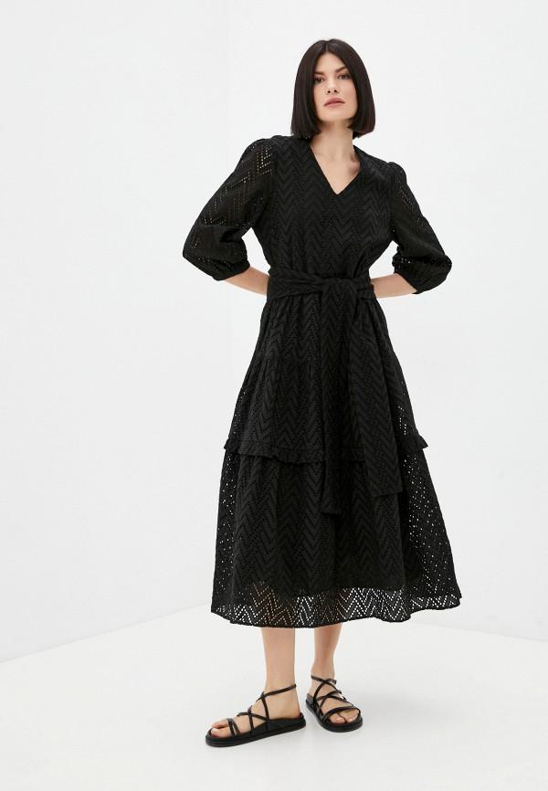 женское повседневные платье selected femme, черное