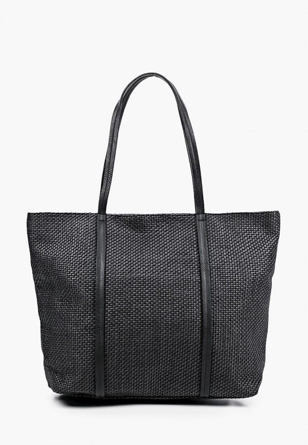женская сумка-шоперы pieces, черная