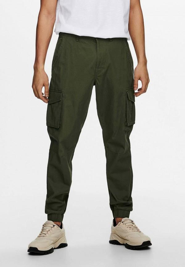 мужские брюки only & sons, хаки