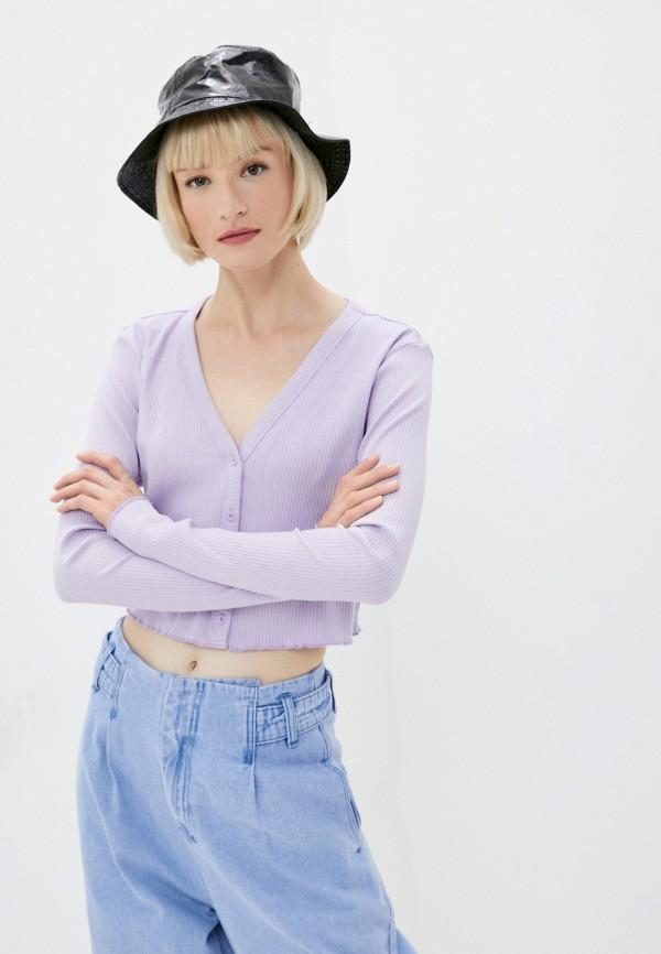 женский топ noisy may, фиолетовый