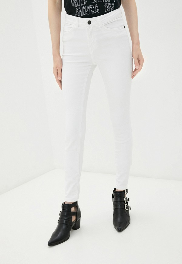 женские джинсы скинни noisy may, белые