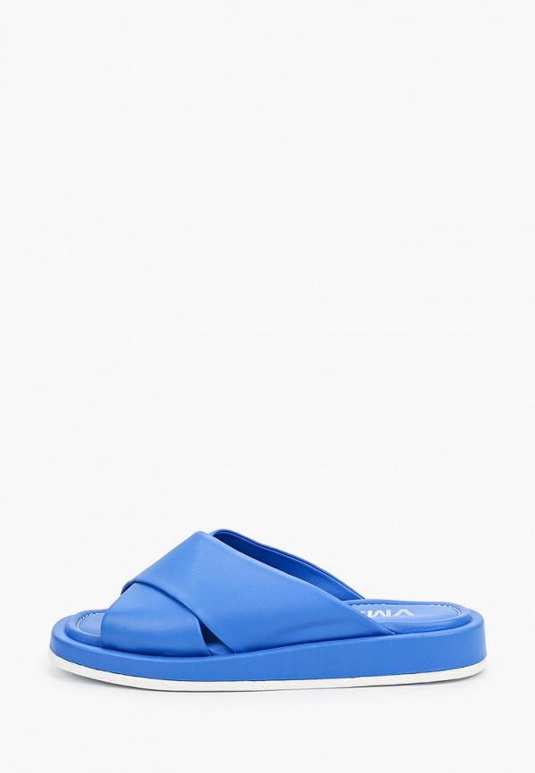 женское сабо vm7, синее