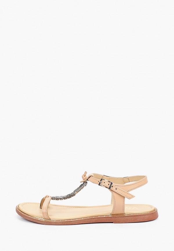 женские сандалии vm7, бежевые